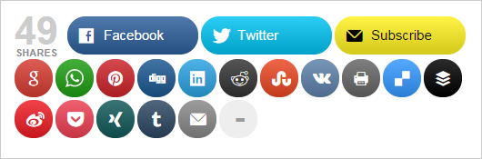 Mashshare WP Social Share plugin
