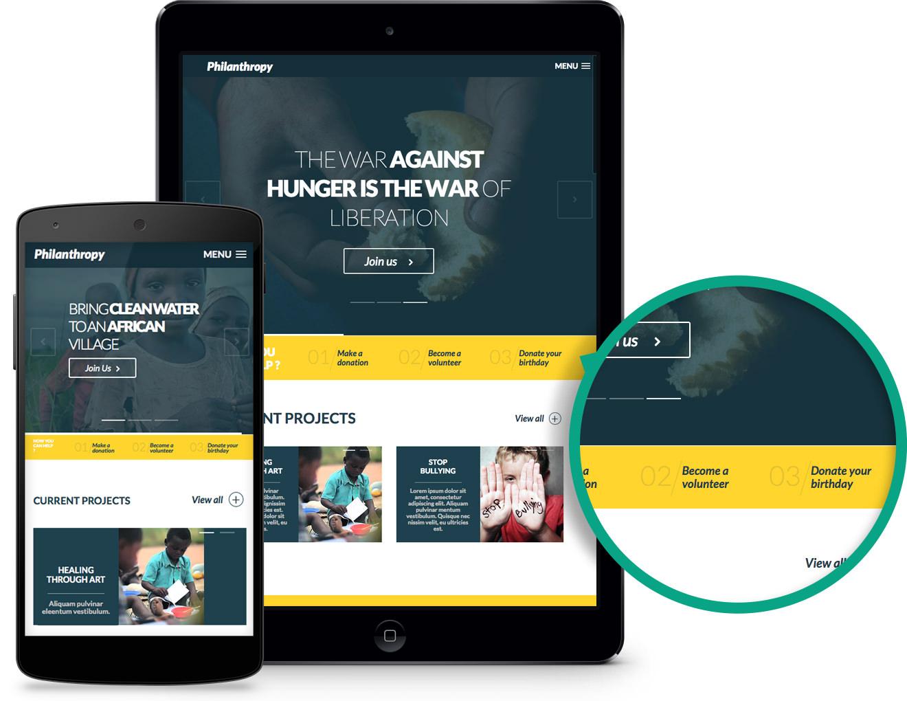Philanthropy WordPress Non-profit Organizations Theme