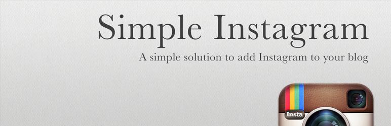 Simple Instagram WP plugin
