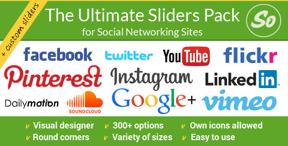 SoSlider Social Sliders WordPress Plugin