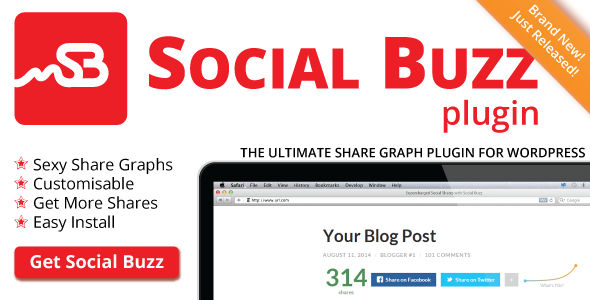 Social Buzz Share Graph WordPress Plugin