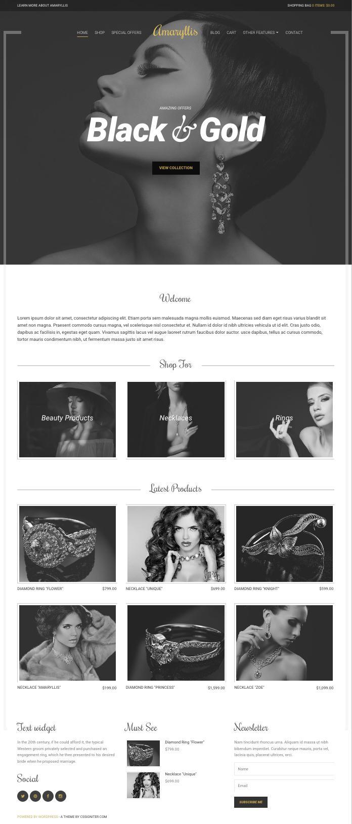 Amaryllis WordPress eCommerce Retail Business Theme