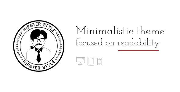 BLG WordPress Minimalistic Blogging Theme