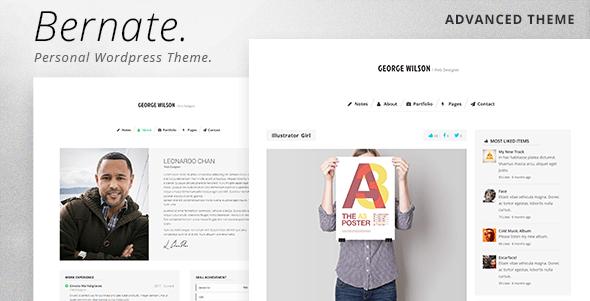 Bernate Responsive Personal WordPress Theme
