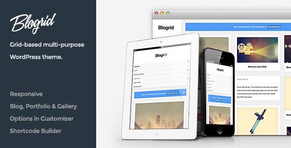 Blogrid WordPress Grid-Based Theme