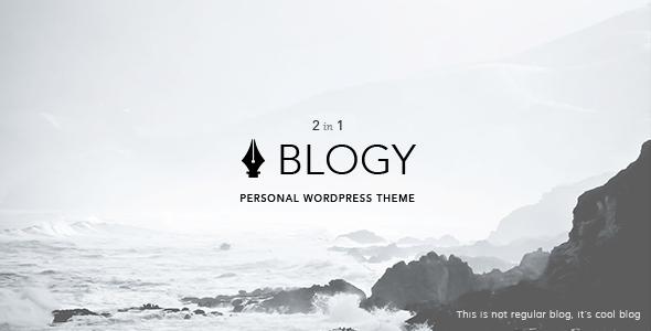 Blogy Modern & Classic Personal WordPress Blog Theme