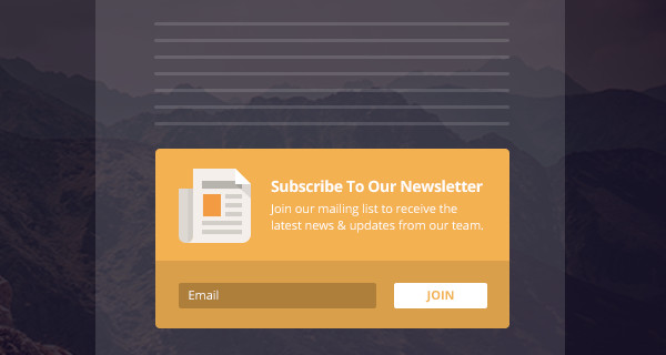 Bloom Below Content email Opt-In Forms WP Plugin