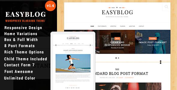 Easyblog Unique & Modern WordPress Blog Theme