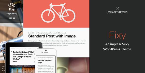 Fixy Sexy WordPress Blogging Theme