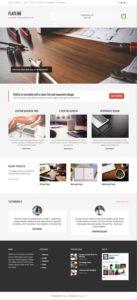 FlatLine WordPress Business / Company & WooCommerce Theme