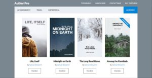 Author Pro WordPress Theme for Published Books or Travel History!