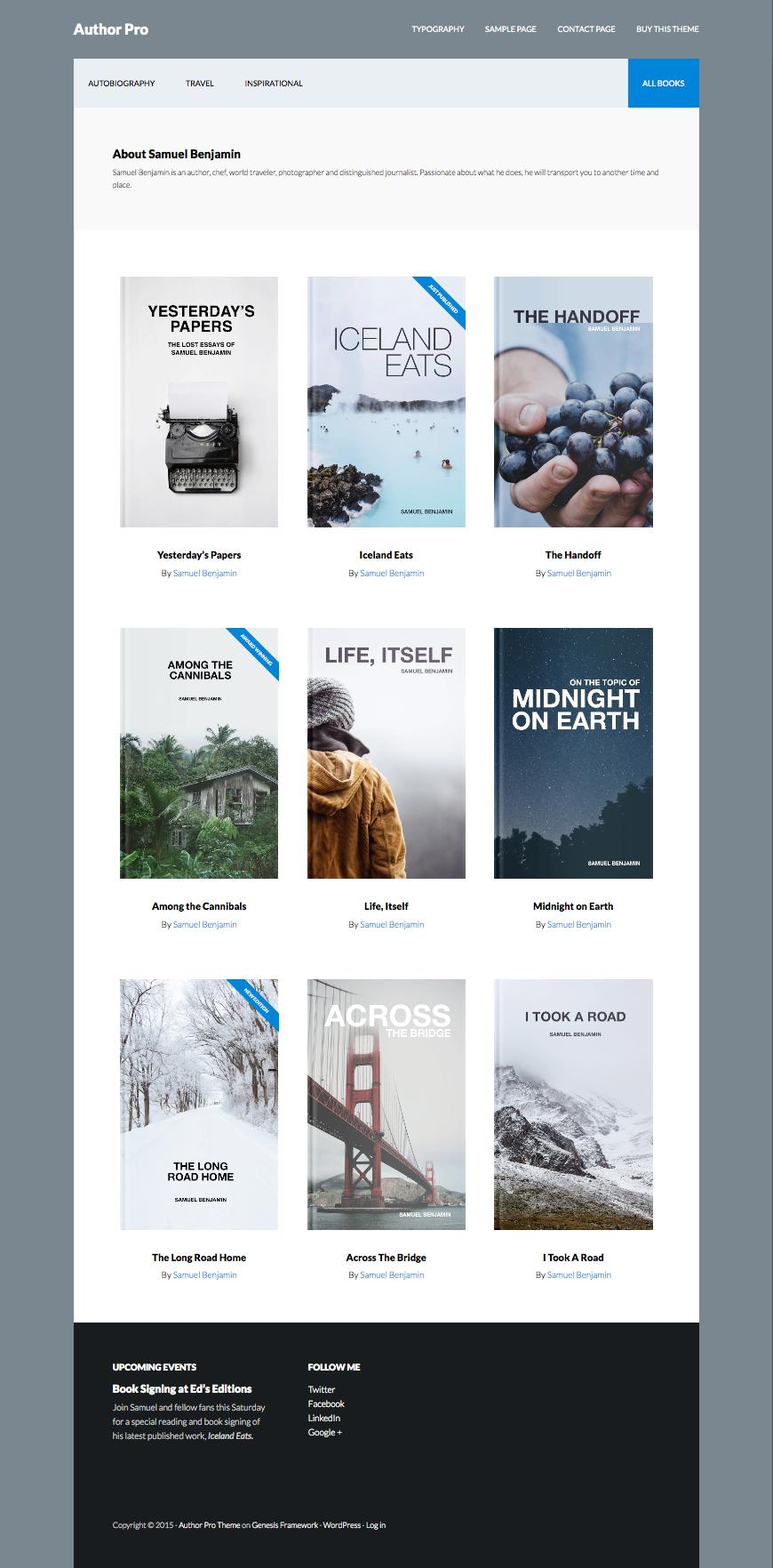 Author Pro WordPress Travel History Theme