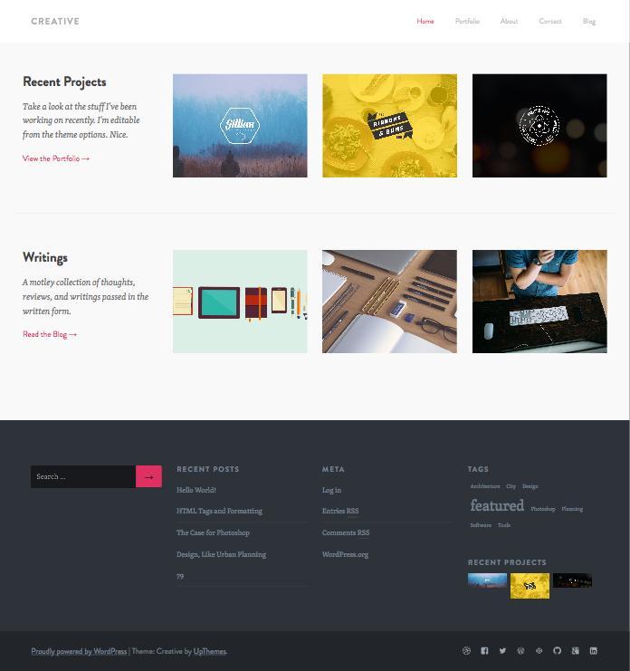 Creative WordPress Portfolio Dribbble importer Theme