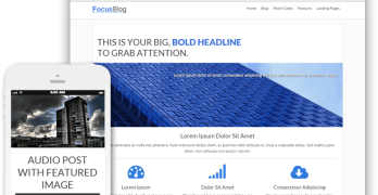 FocusBlog WordPress Conversion-Focused Blog Theme