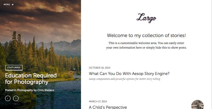 Largo WordPress Wide-Format Theme