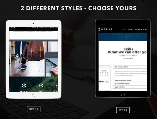 Motive WordPress Creative Portfolio Theme
