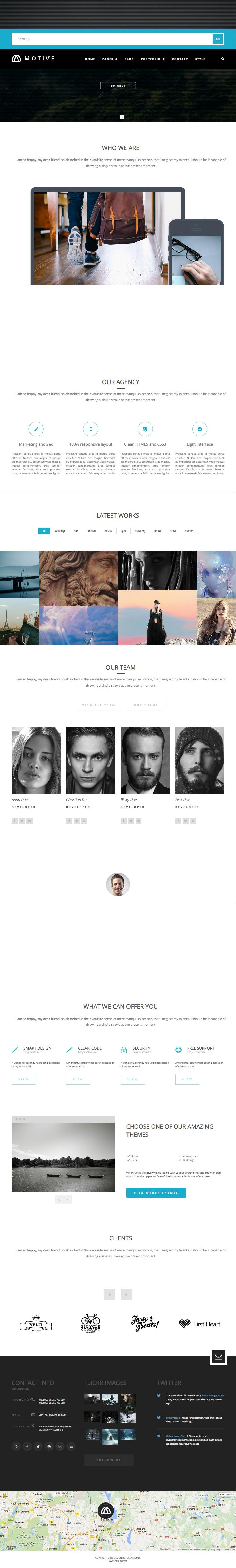 Motive WordPress Portfolio Grid, Mosaic & Masonry Theme