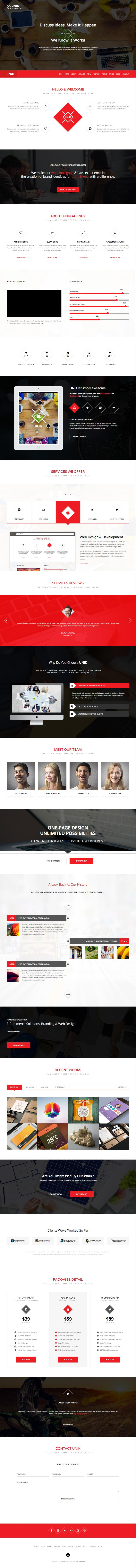 Unik WordPress Creative Business Service Theme