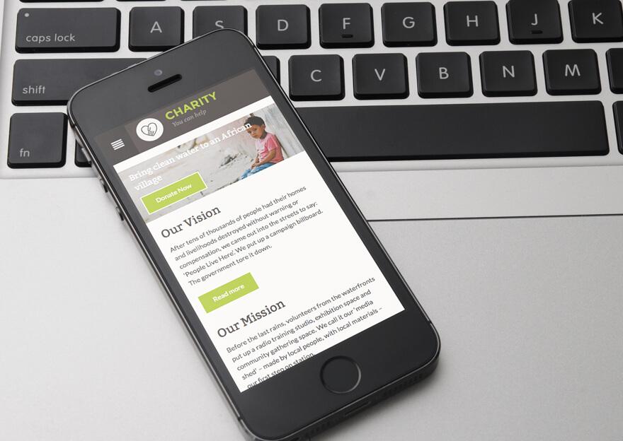 Charity Responsive QuickEdit WordPress Charities Theme