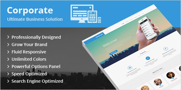 Corporate WordPress Business Corporations Theme