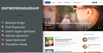 Entrepreneurship WordPress AdSense Optimized Theme