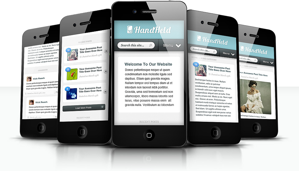 HandHeld WordPress Mobile Plugin for Android, iOS & BlackBerry Phones