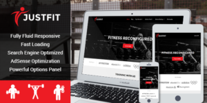 JustFit Theme for Gym, Fitness, Exercise & Health Enthusiasts