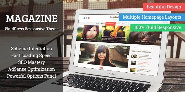 Magazine WordPress Multiple Layouts Theme