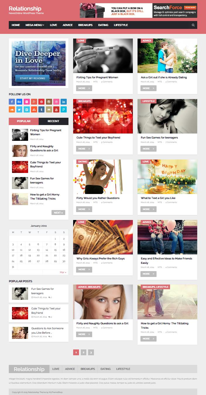 NewsOnline WordPress Relationship Magazine Theme