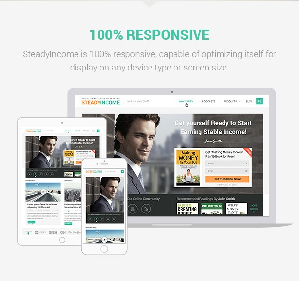 SteadyIncome Theme for Online Marketers, Bloggers & Entrepreneurs