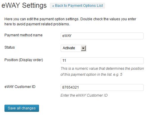 eWAY Payment Gateway WP Plugin