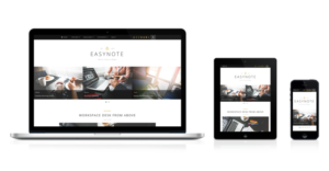 EasyNote WordPress Trendy Personal Portfolio or News Blog Theme