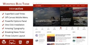Interactive 2.0 WordPress Theme for Travel & Storytellers