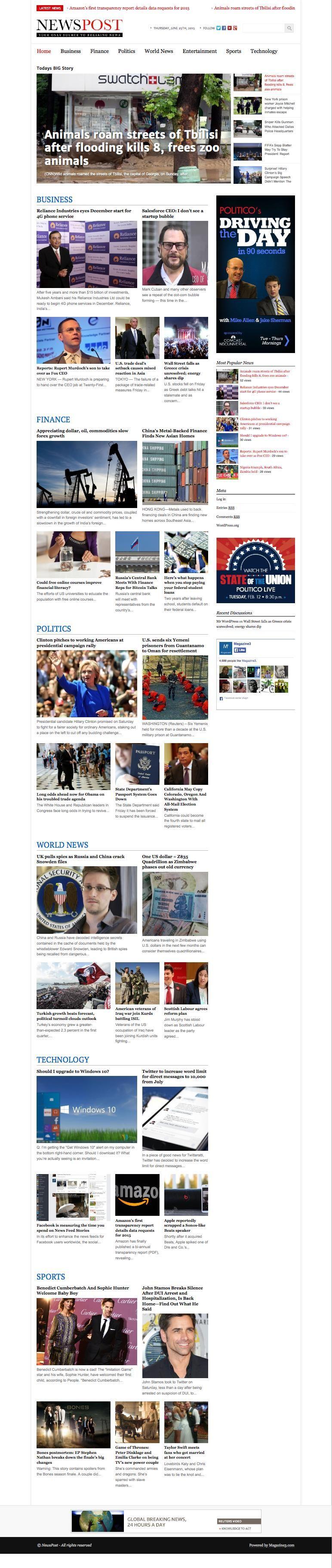 NewsPost WordPress Magazine Newspaper Theme