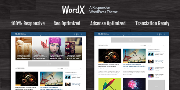 WordX WordPress Google AdSense Theme