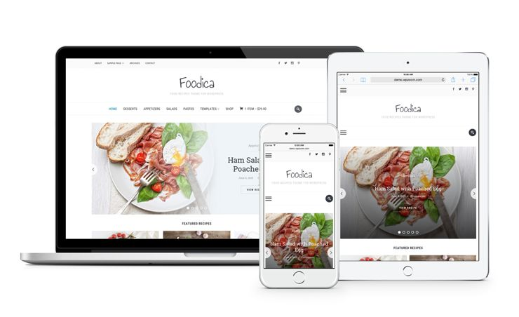 Foodica WordPress Food Recipes Blog Theme