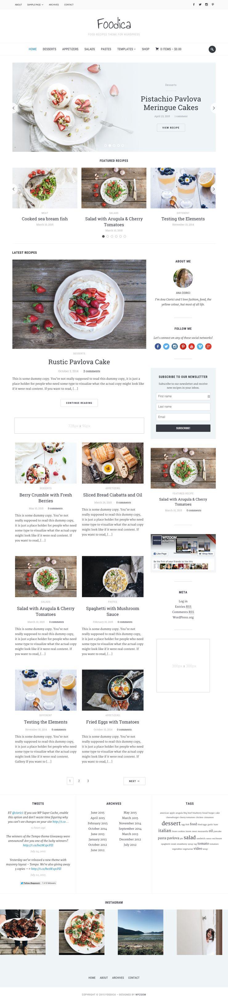 Foodica WordPress Food Recipes Magazine Theme