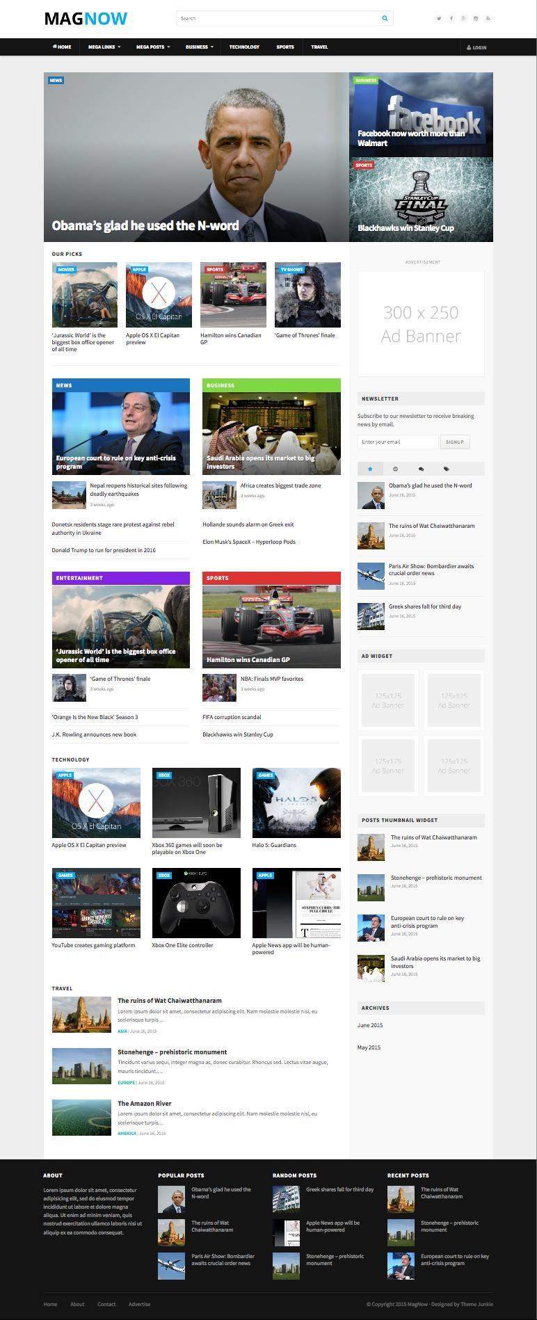 MagNow WordPress Content Focused Magazine Theme