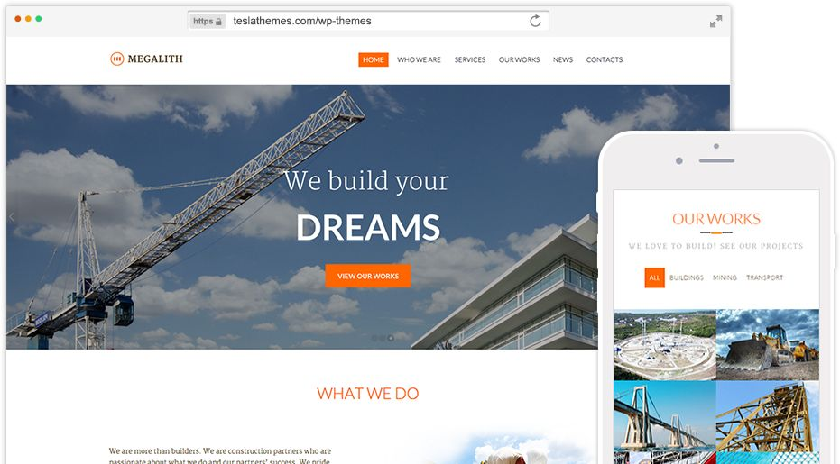 Megalith WordPress Building Construction Theme