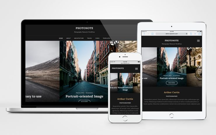 PhotoNote 2.0 WordPress Landscape Photography Theme