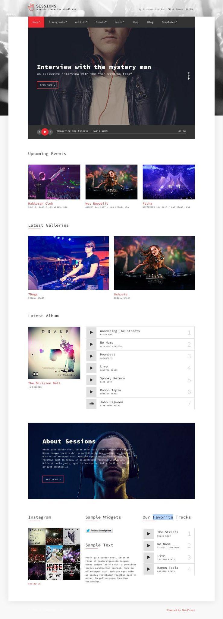 Sessions WordPress Events & Nightclub Theme
