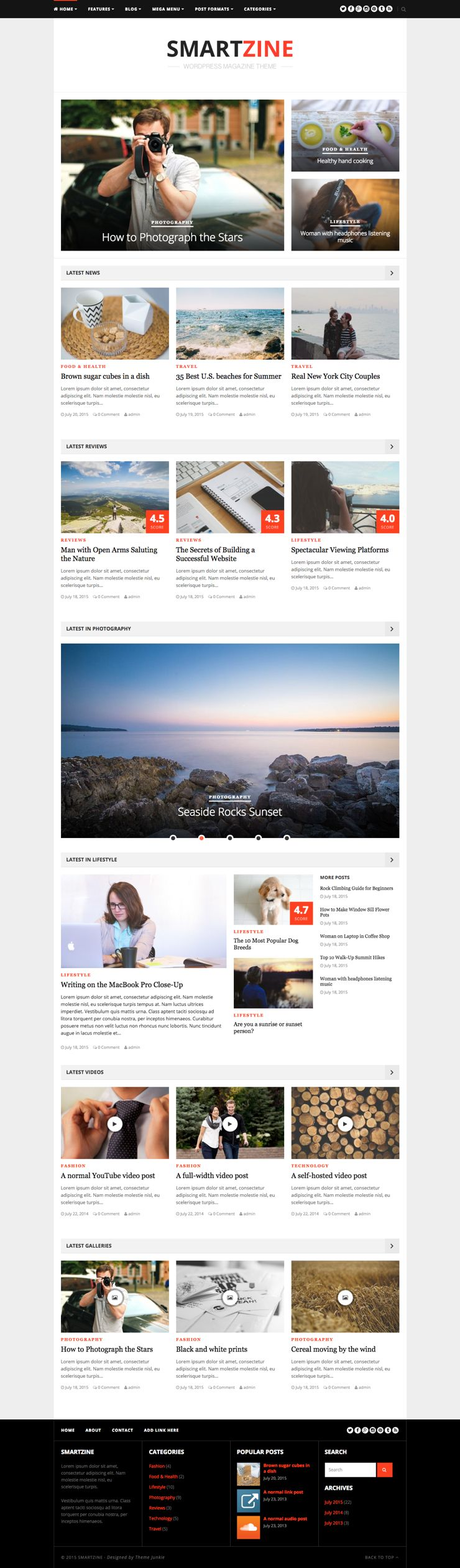 SmartZine WordPress News & Magazine Theme