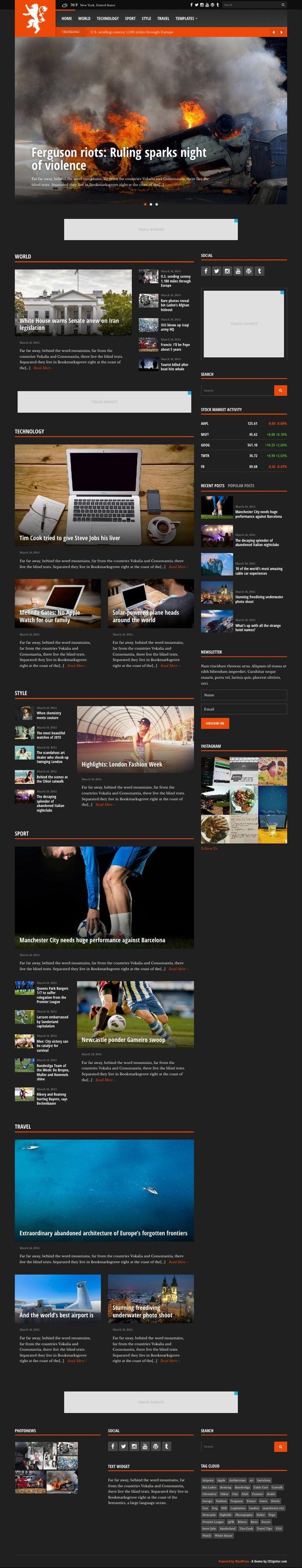 Tabloid WordPress News Websites Theme