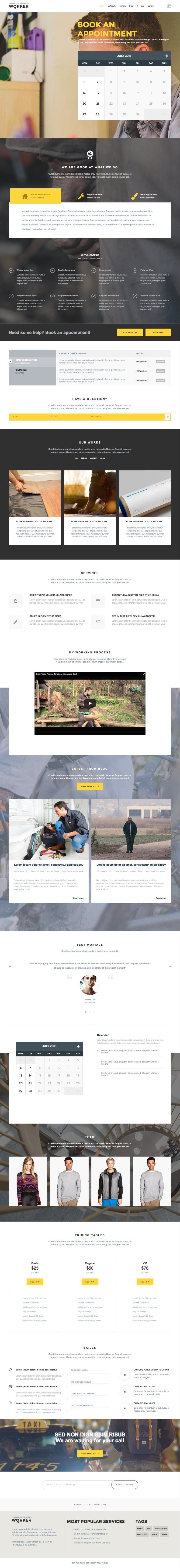 Worker WordPress Personal Trainer Consultant Theme