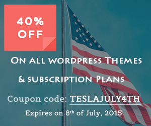 40% OFF on WordPress Themes and Subscription Plans