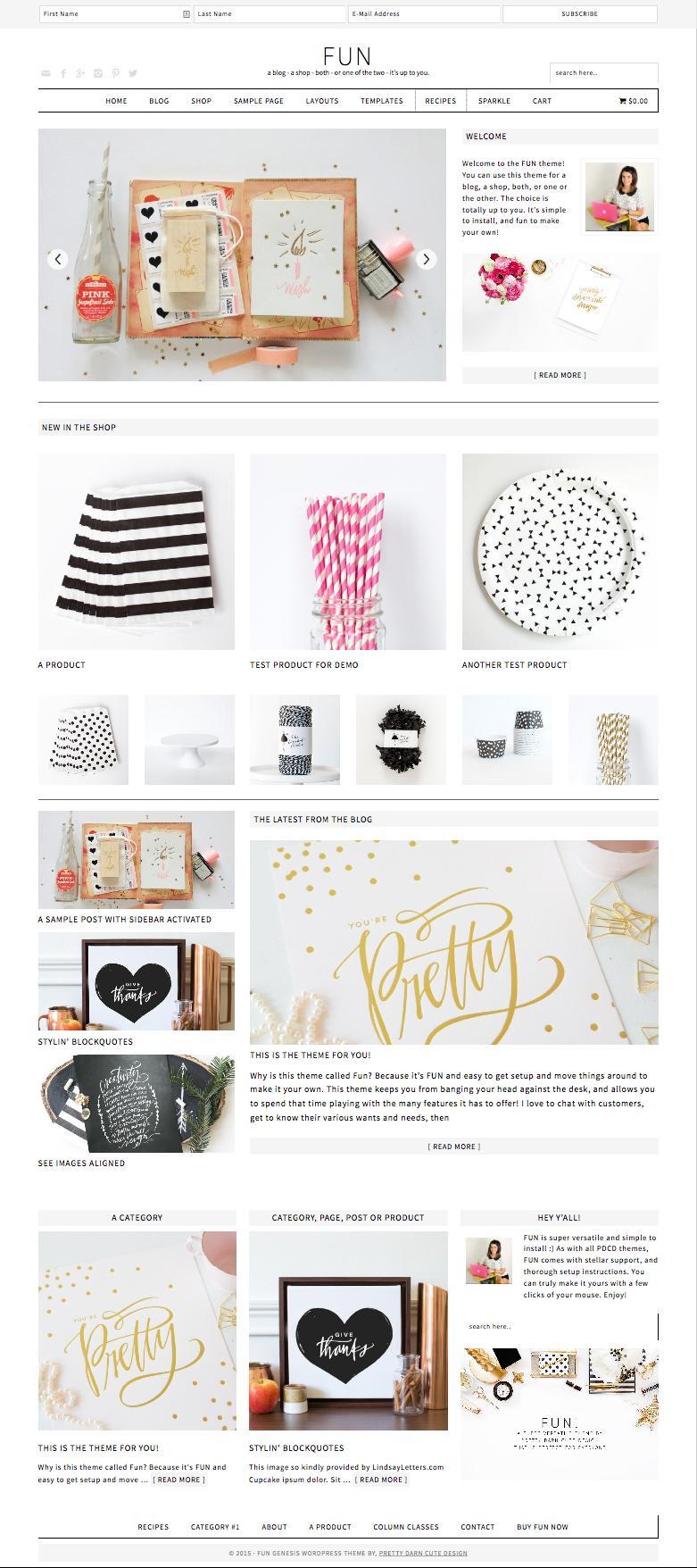Fun WordPress Blog & Shop Genesis Theme