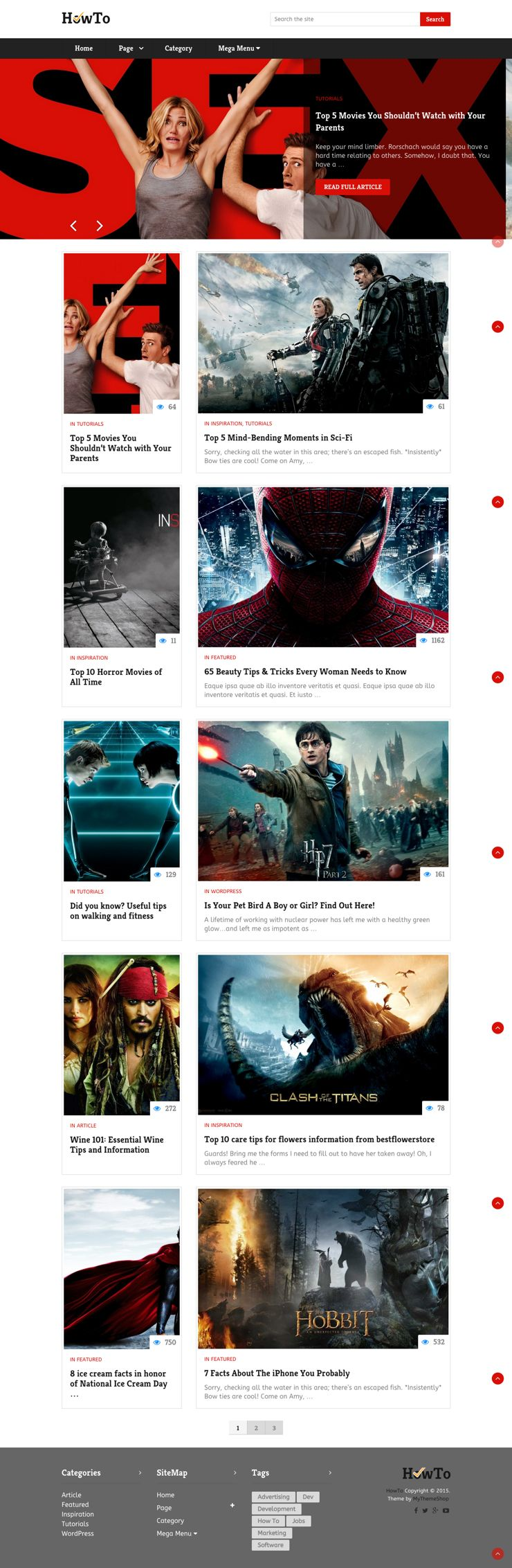 HowTo WordPress Content Heavy Blogs Theme