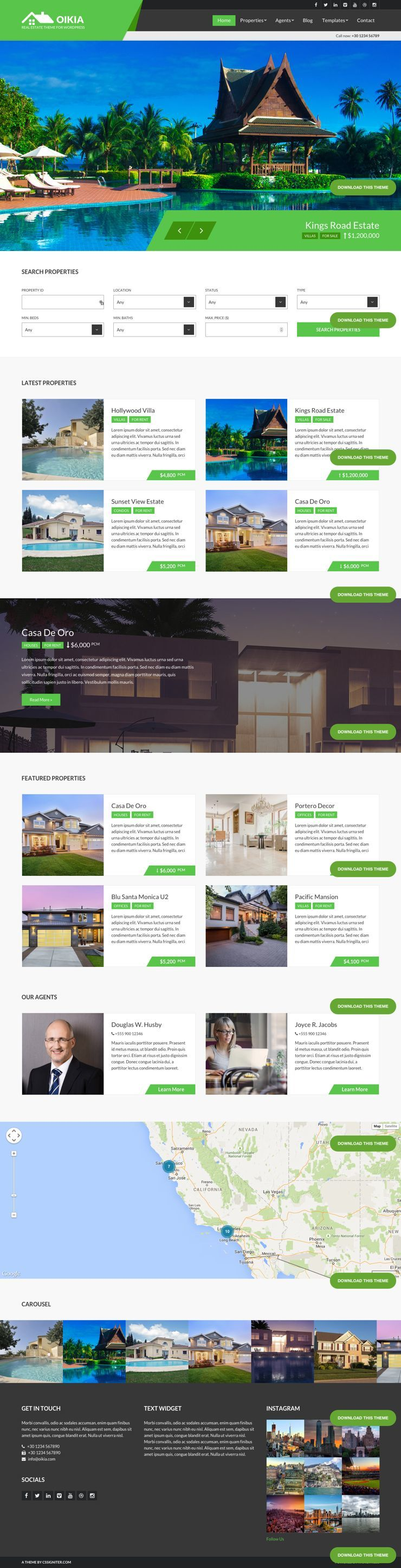 Oikia WordPress Property Listing Theme