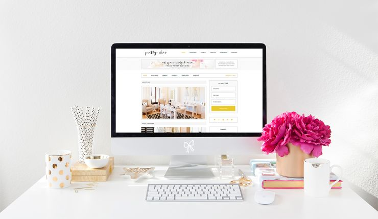 Pretty Chic WordPress eCommerce Blogging Theme