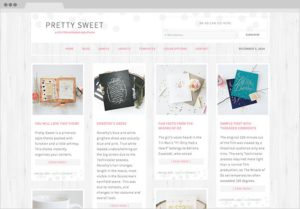 Pretty Sweet WordPress Pinterest Style Genesis Theme